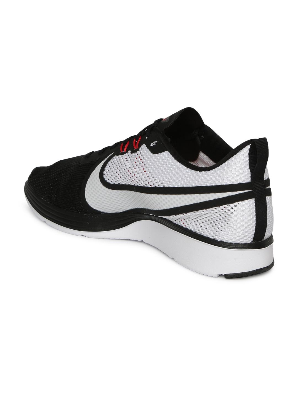 reputable site 7031f f37fe Nike Men Black   White Zoom Strike 2 Running Shoes