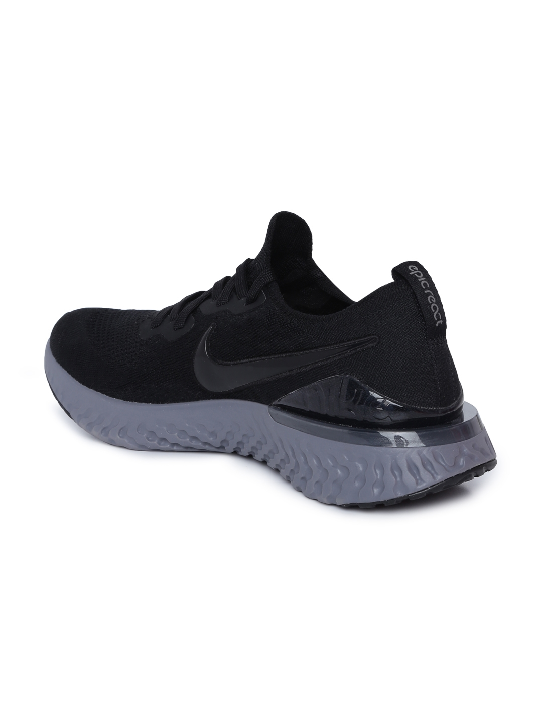 ff7f07c28a6c Buy Nike Men Black EPIC REACT FLYKNIT 2 Running Shoes - Sports Shoes ...