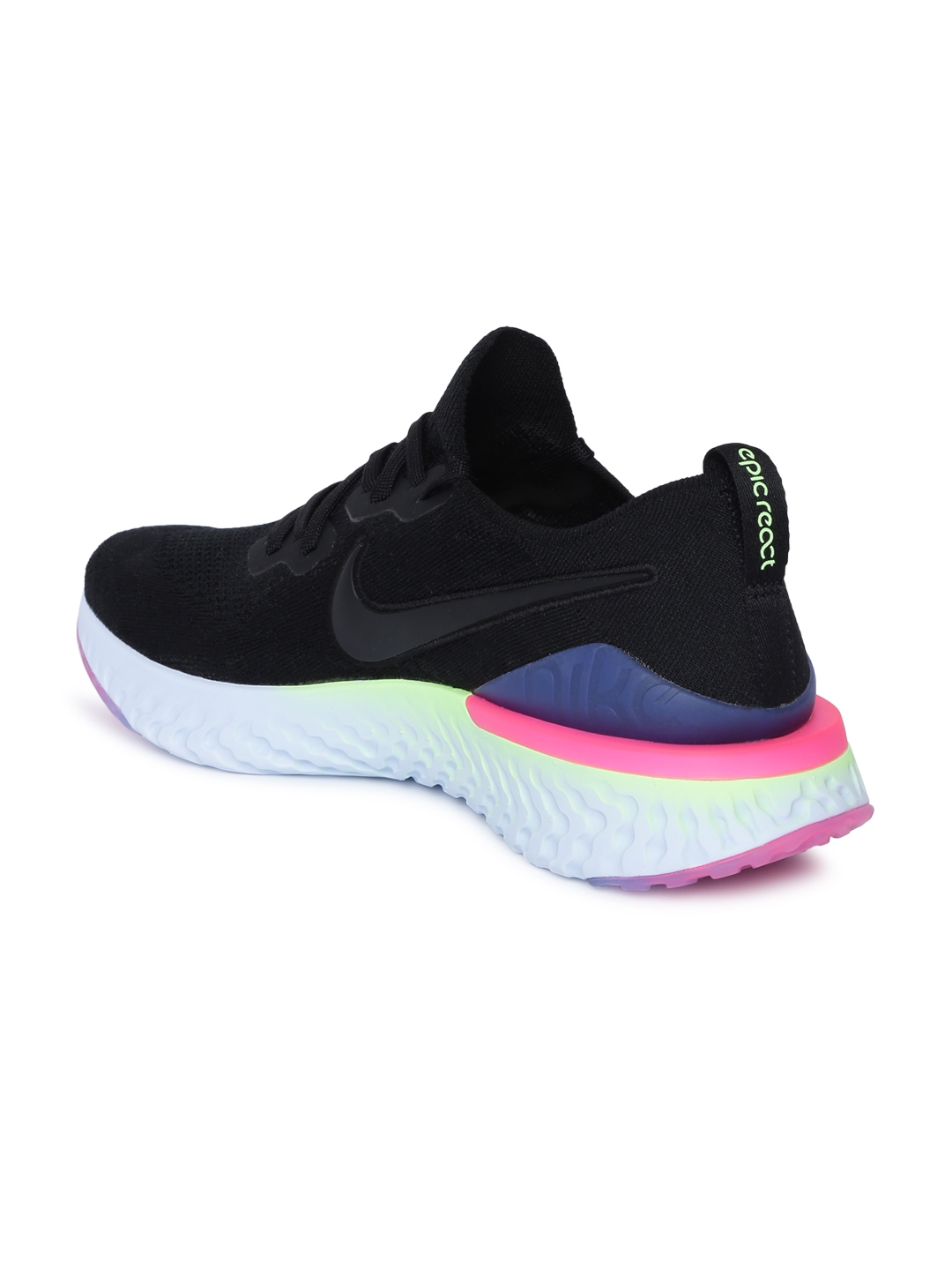 e879113fbf Buy Nike Men Black EPIC REACT FLYKNIT 2 Running Shoes - Sports Shoes ...