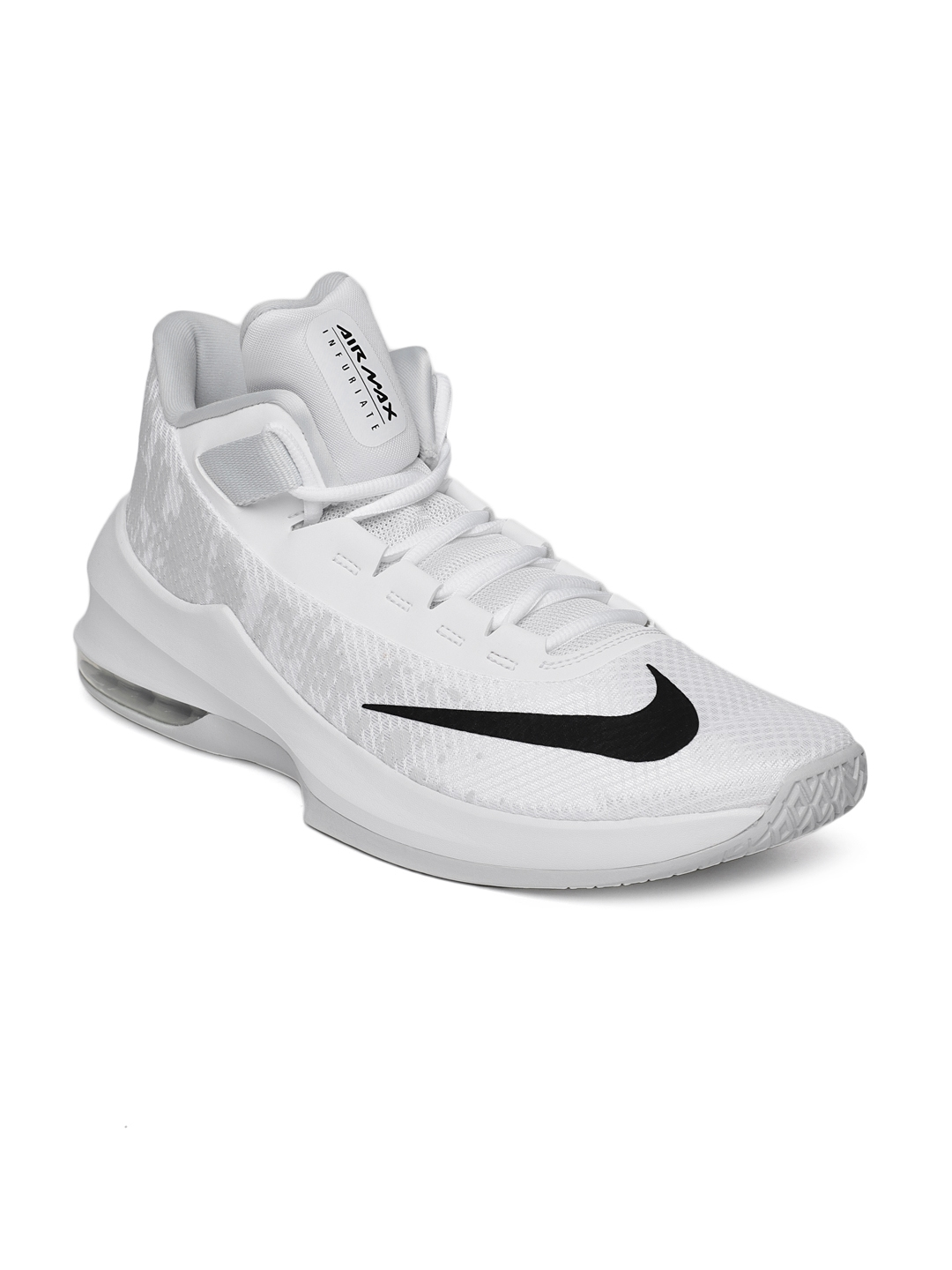 9184b1acaa4d Buy Nike Men White Air Max Infuriate 2 Mid Top Basketball Shoes ...