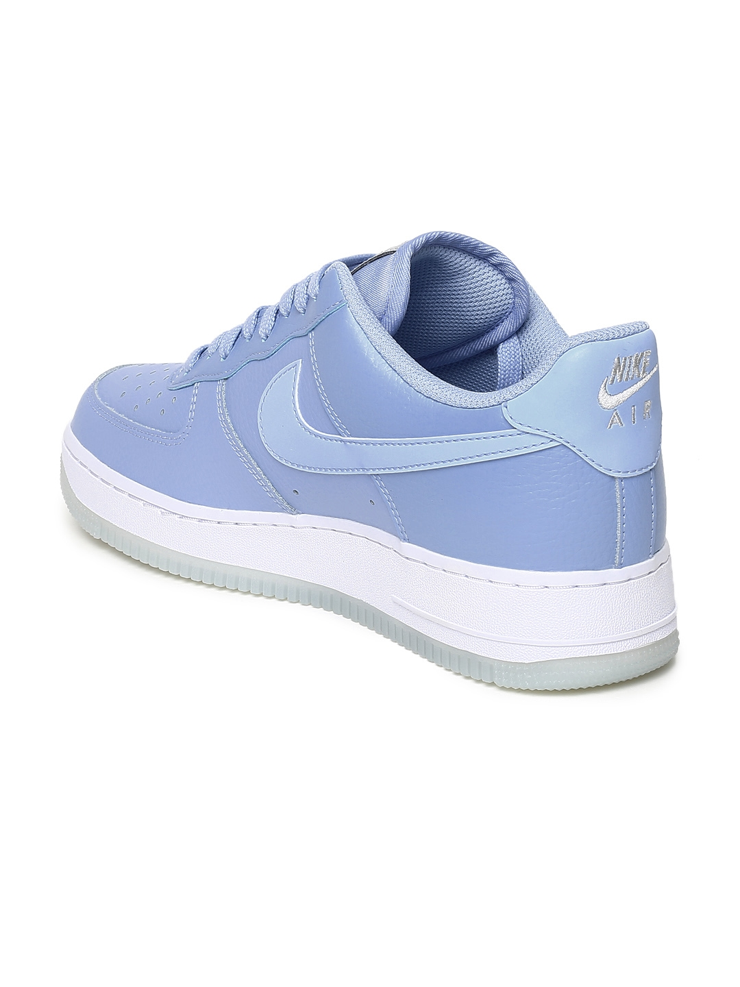 new style 9129a 698c5 Nike Women Blue Air Force 1  07 Ess Leather Sneakers