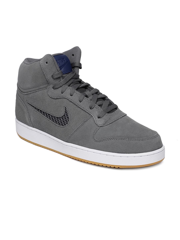 Buy Nike Men Grey Solid EBERNON MID