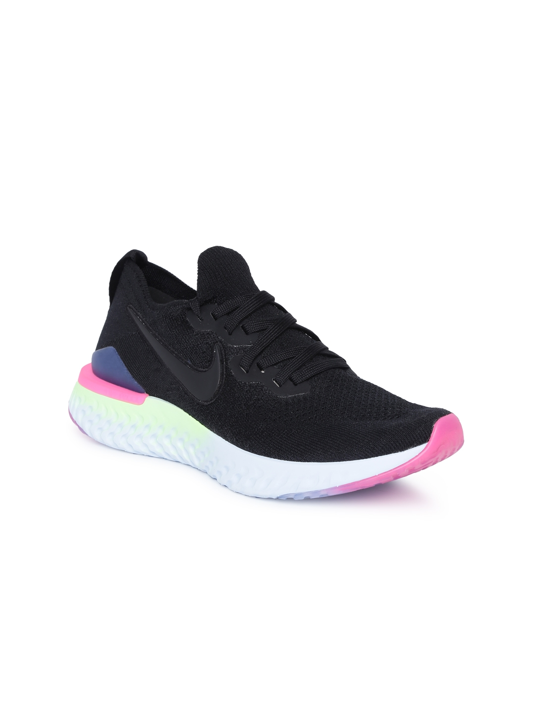 9a7ab9af4faf Buy Nike Women Black EPIC REACT FLYKNIT 2 Running Shoes - Sports ...
