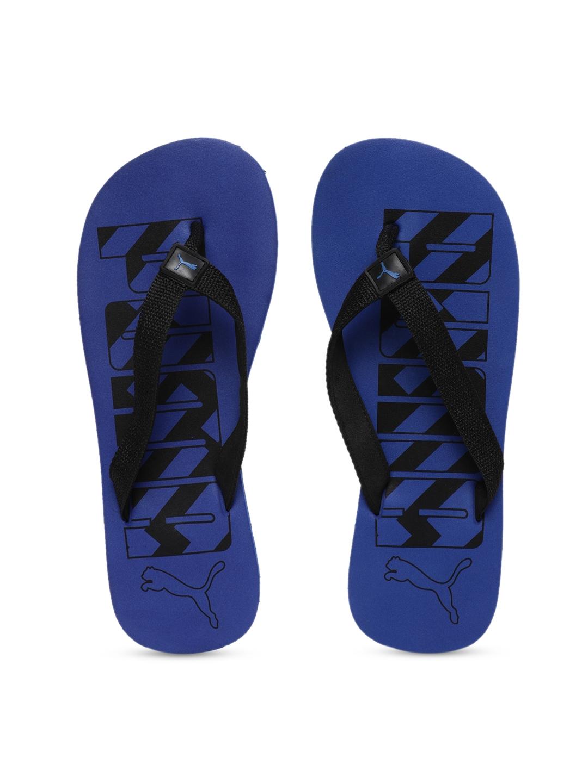 Buy Puma Unisex Blue Printed Thong Flip Flops - Flip Flops for ... 27610f2b5