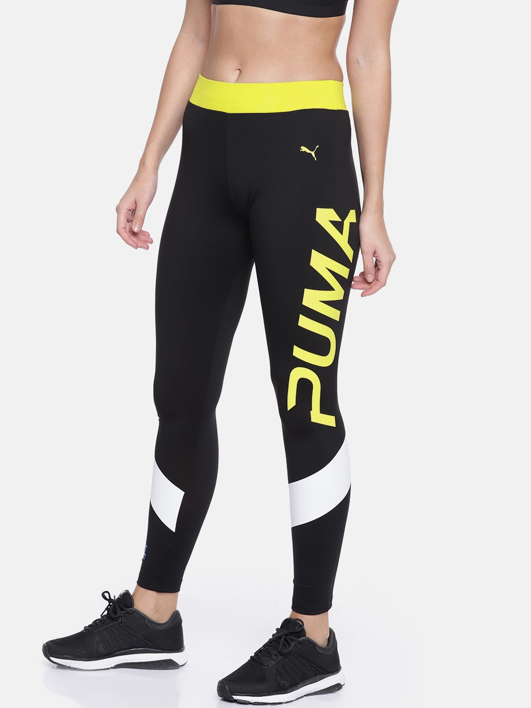 Activewear Puma Amplified Womens Ladies Sports Fitness Legging Black