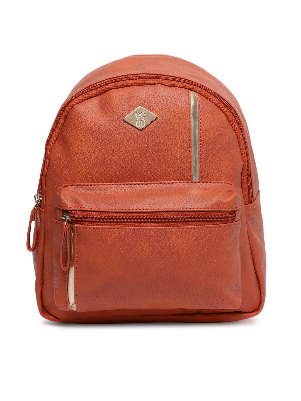 Baggit Women Orange LXE4 RAMPAGE LEGO Textured Backpack