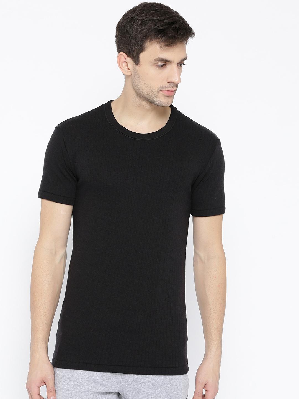 c98691b41b42 Buy Marks & Spencer Men Black Thermal T Shirt - Thermal Tops for Men ...
