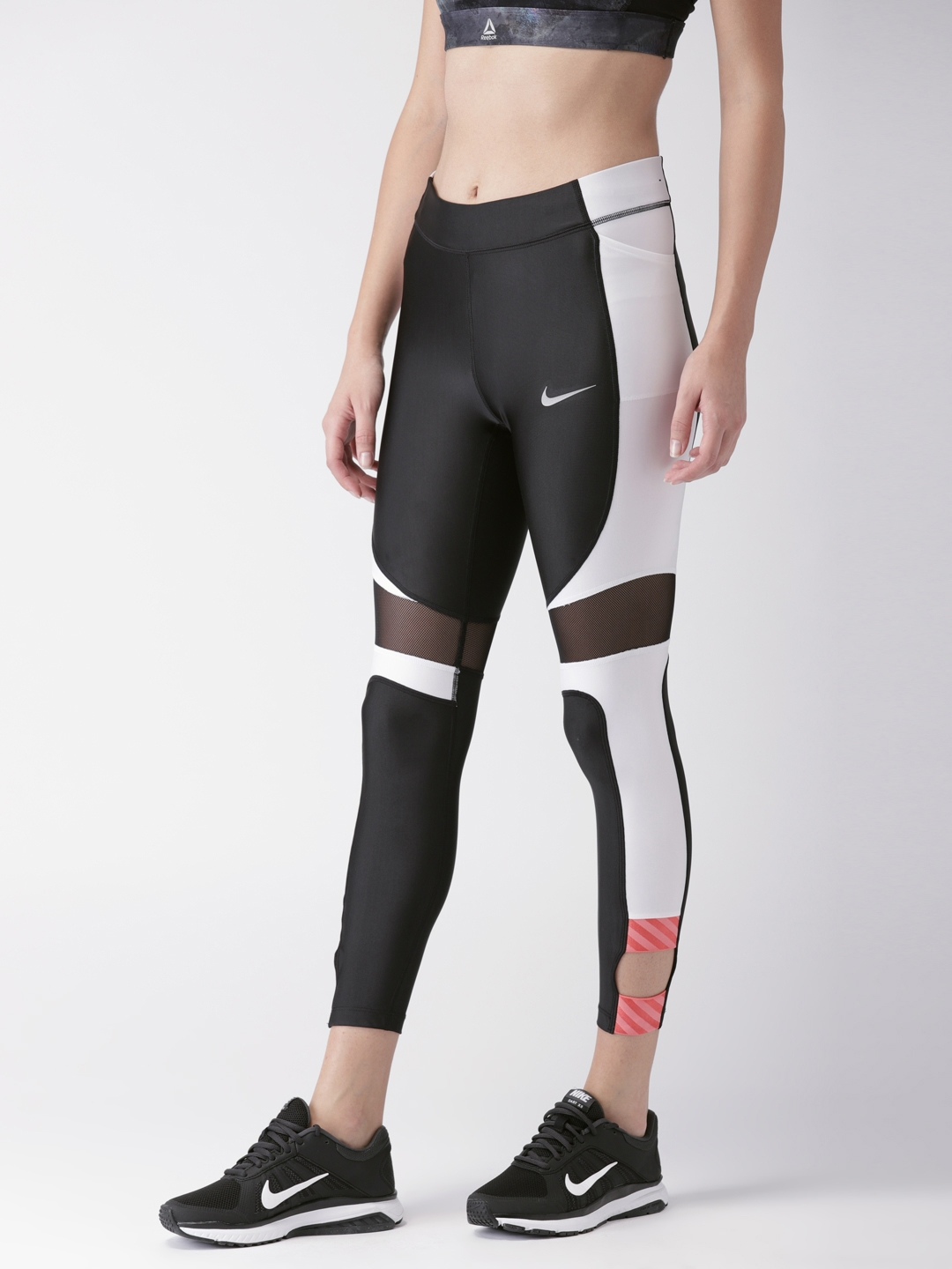 129e3d1b75155d Nike Women Black Solid Tight Fit AS W NK SPEED TGHT 7_8 SD Running Tights
