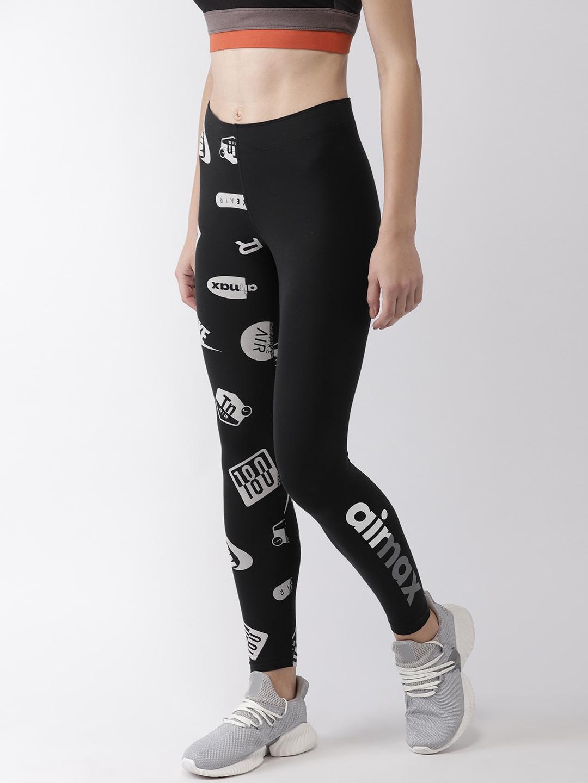 7f91b4b1ab4 Buy Nike Women Black Printed Tight Fit LEGASEE LGGNG AIR MAX Tights ...