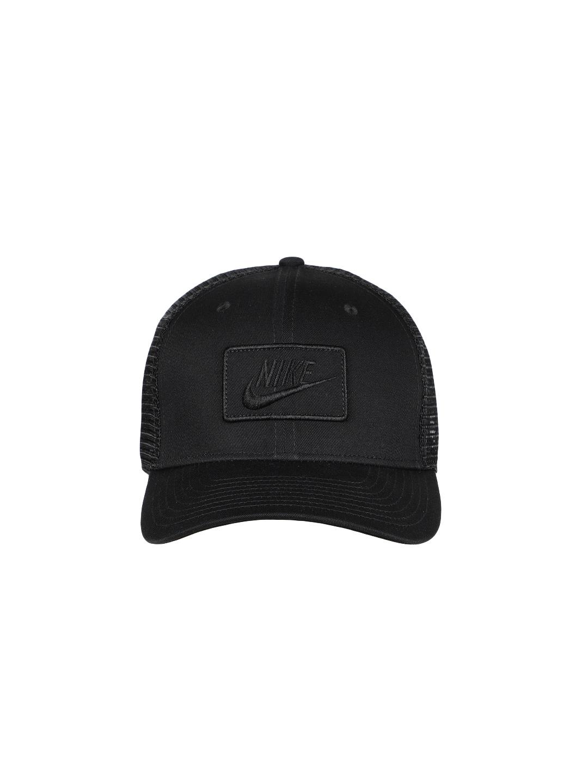 7fd39e3101a Buy Nike Unisex Black Solid Snapback Cap AQ9879 011 - Caps for ...