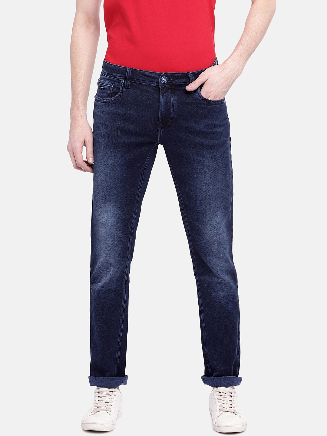 d612f8e7 Buy Lawman Pg3 Men Blue Slim Fit Mid Rise Clean Look Jeans - Jeans ...