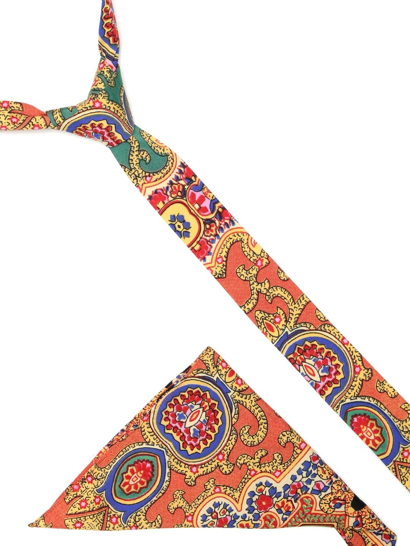3111ae9f3ab4 Buy Blueberry Men Multicoloured Printed Tie & Pocket Square ...