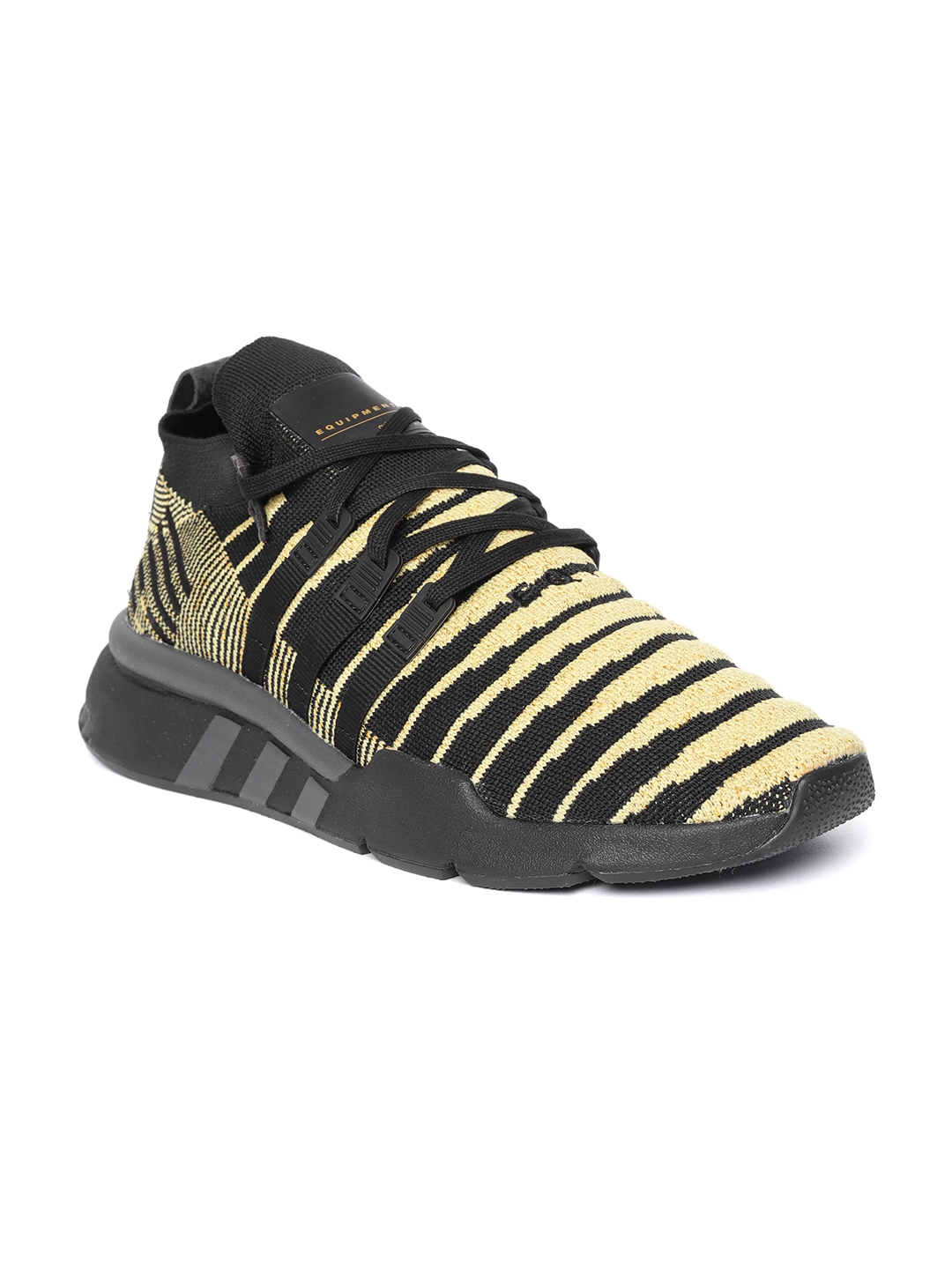 0c54979ce ADIDAS Originals Dragonball Z Men Khaki   Black EQT Support Mid ADV  Primeknit Sneakers