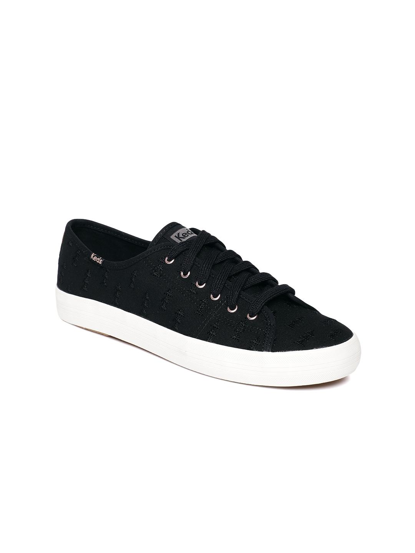 Buy Keds Women Black Solid Sneakers