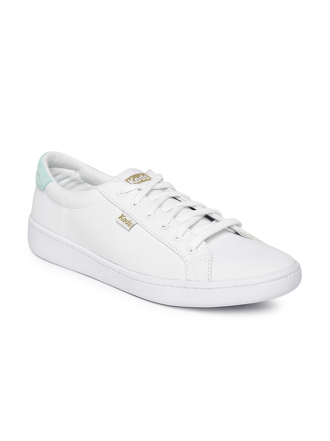 Buy Keds Women White Solid Sneakers