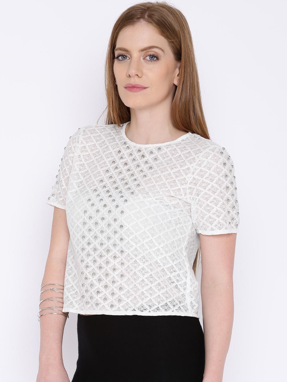 11c6a86e3 Buy Vero Moda White Lace Top - Tops for Women 827837