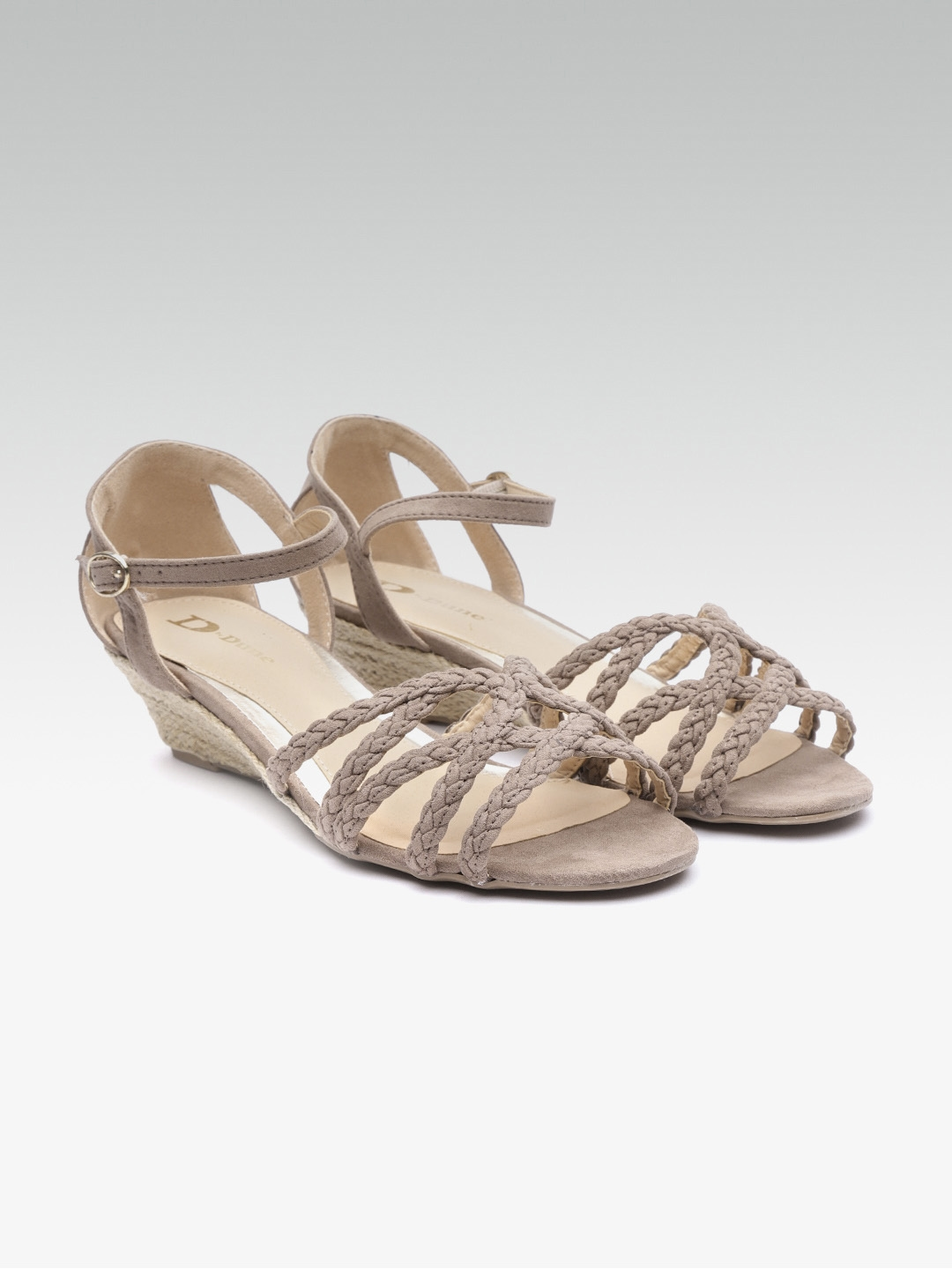 da93cbb460 Buy Dune London Women Taupe Braided Wedges - Heels for Women 8300151 ...