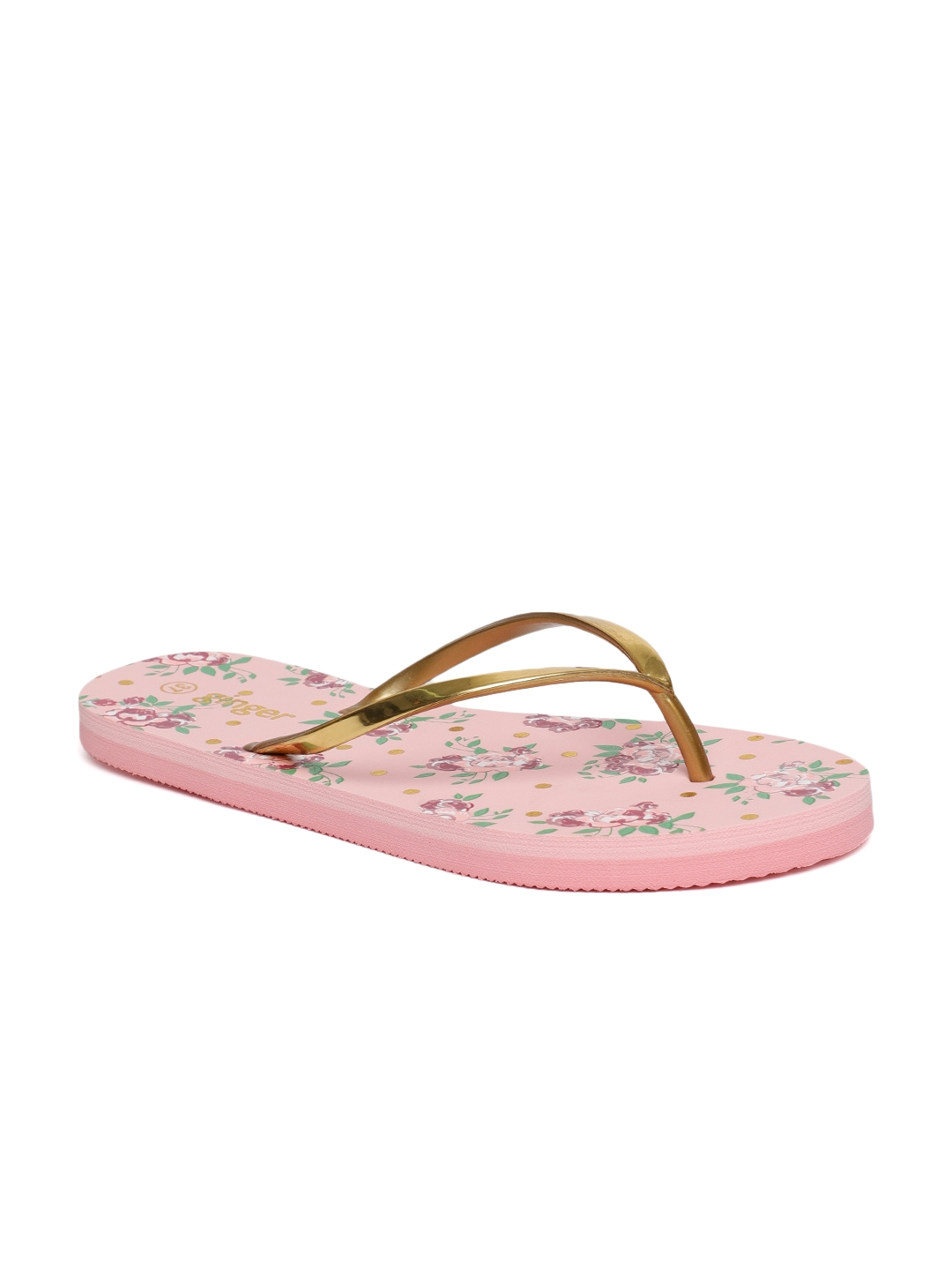 a3fb8cdfe188 Buy Ginger By Lifestyle Women Antique Gold Toned Thong Flip Flops ...
