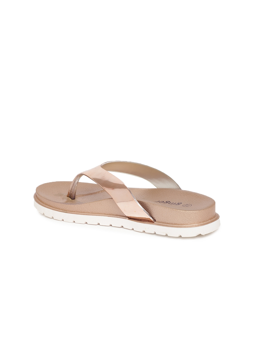 9bf3ca478b13 Buy Ginger By Lifestyle Women Rose Gold Toned Solid Flats - Flats ...