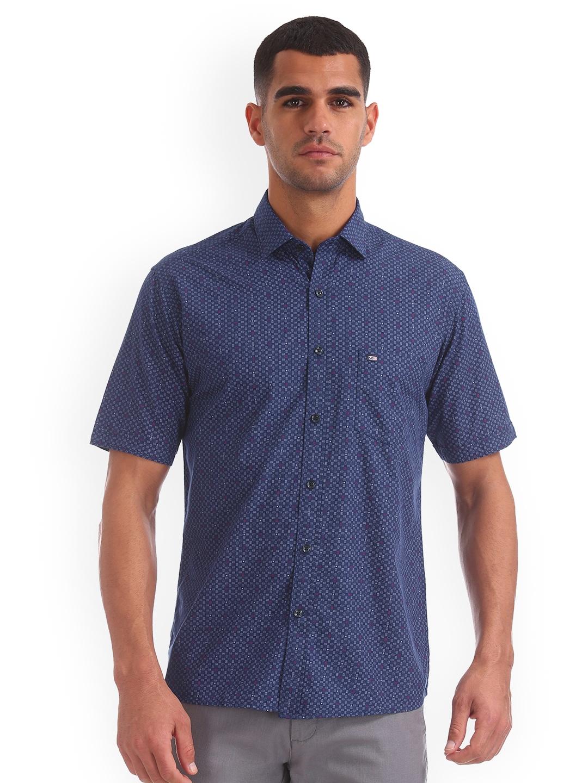 Arrow Sport Men Blue Regular Fit Printed Casual Shirt