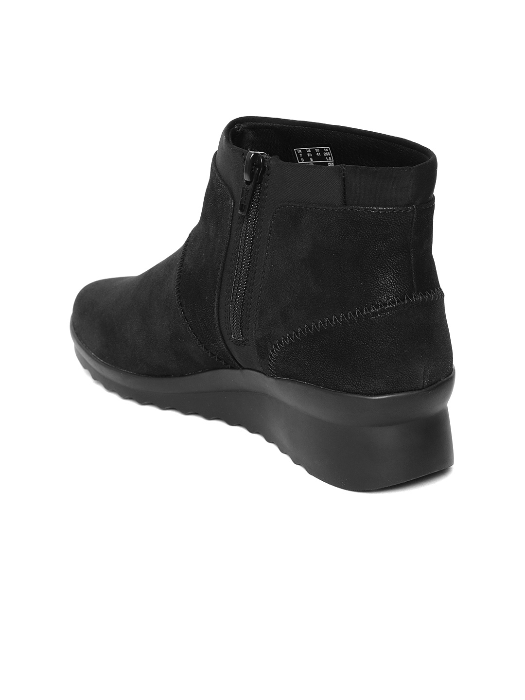 c3b144d3d Buy Clarks Women Black Solid Mid Top Flat Boots - Casual Shoes for ...