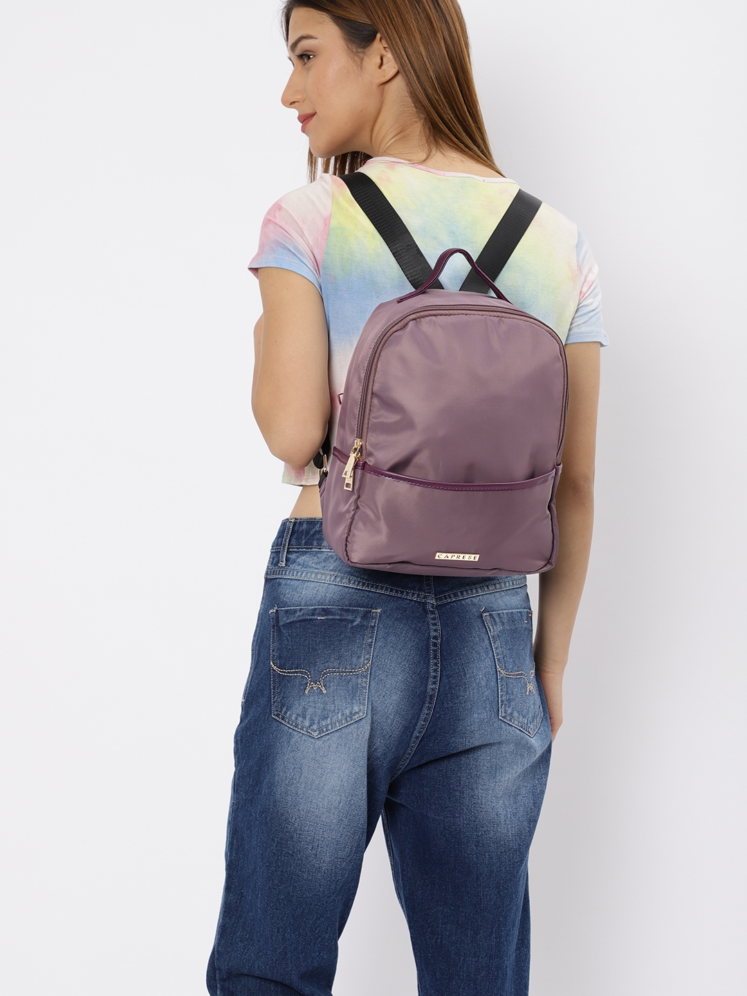 Get Upto 65% Off Women Taupe CASEY Solid BackPack