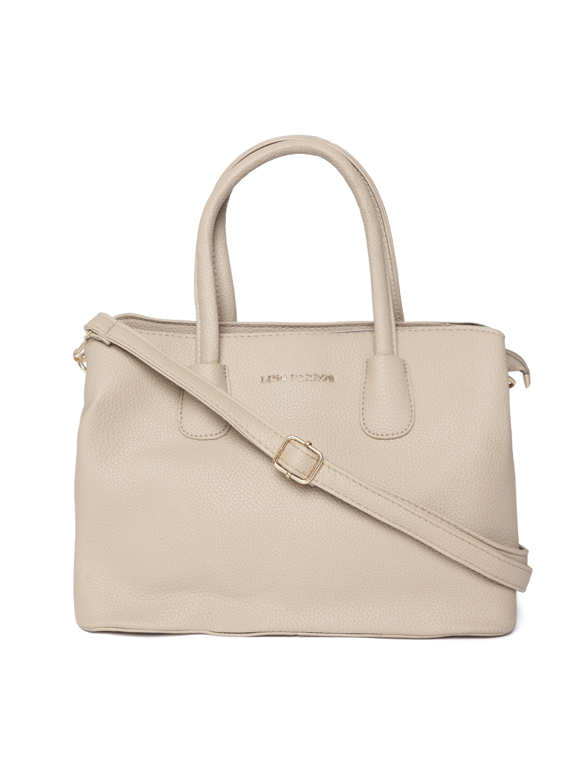c8874fe03e Buy Lino Perros Beige Solid Handheld Bag - Handbags for Women ...