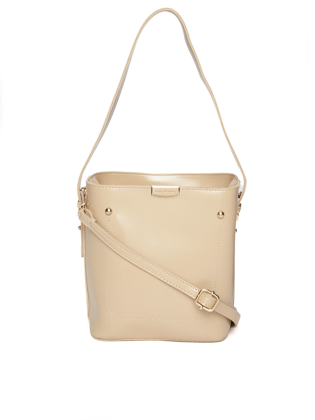283cbadd562 Lisa Hayden for Lino Perros Beige Solid Handheld Bag with Detachable Sling  Strap