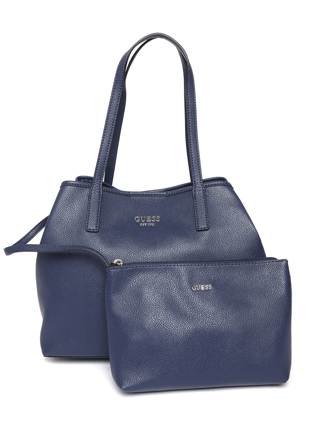 Buy GUESS Navy Blue Solid Shoulder Bag -