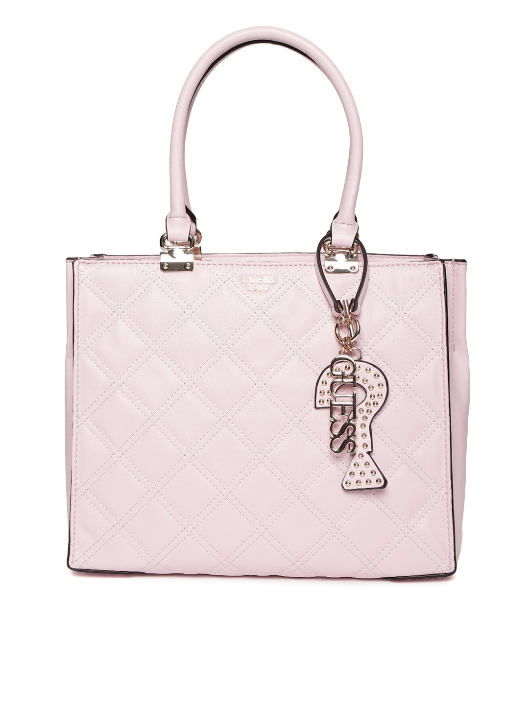 280e31123 Buy GUESS Pink Quilted Shoulder Bag - Handbags for Women 8381519 ...