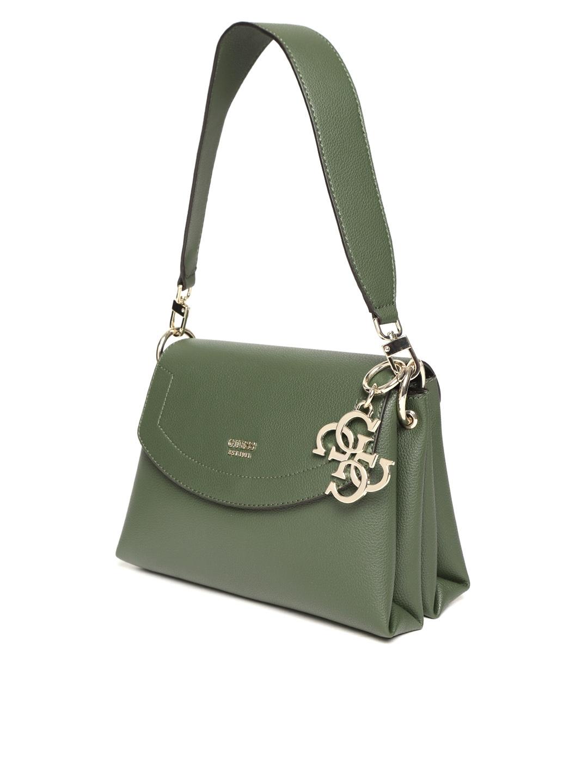 871ccf50d3d7 Buy GUESS Olive Green Solid Shoulder Bag With Detachable Sling Strap ...