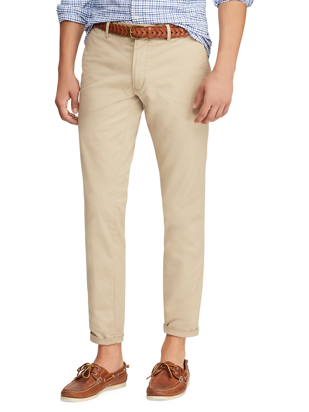 4519869184bb Buy Polo Ralph Lauren Men Beige Slim Fit Solid Chinos - Trousers for ...