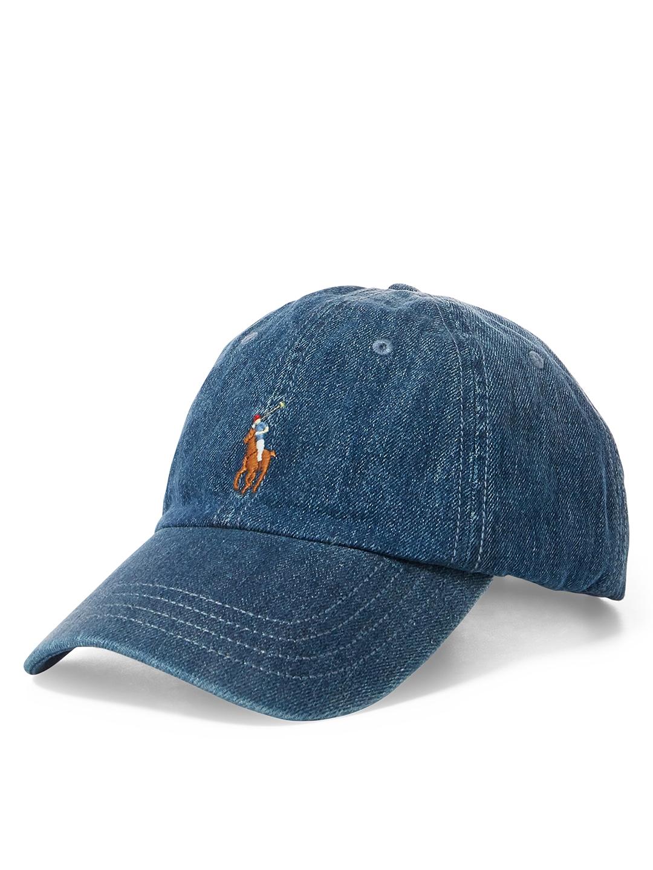 db10b866f03 Buy Polo Ralph Lauren Men Blue Solid Baseball Cap - Caps for Men ...