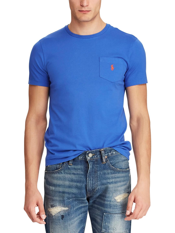57ad3c20 Buy Polo Ralph Lauren Men Blue Solid Round Neck T Shirt - Tshirts ...