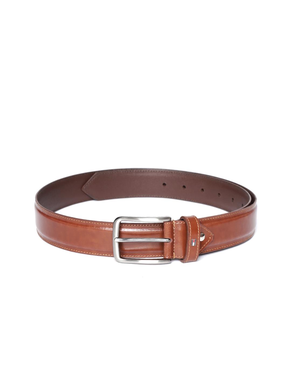 Tommy Hilfiger Men Brown Leather Solid Belt