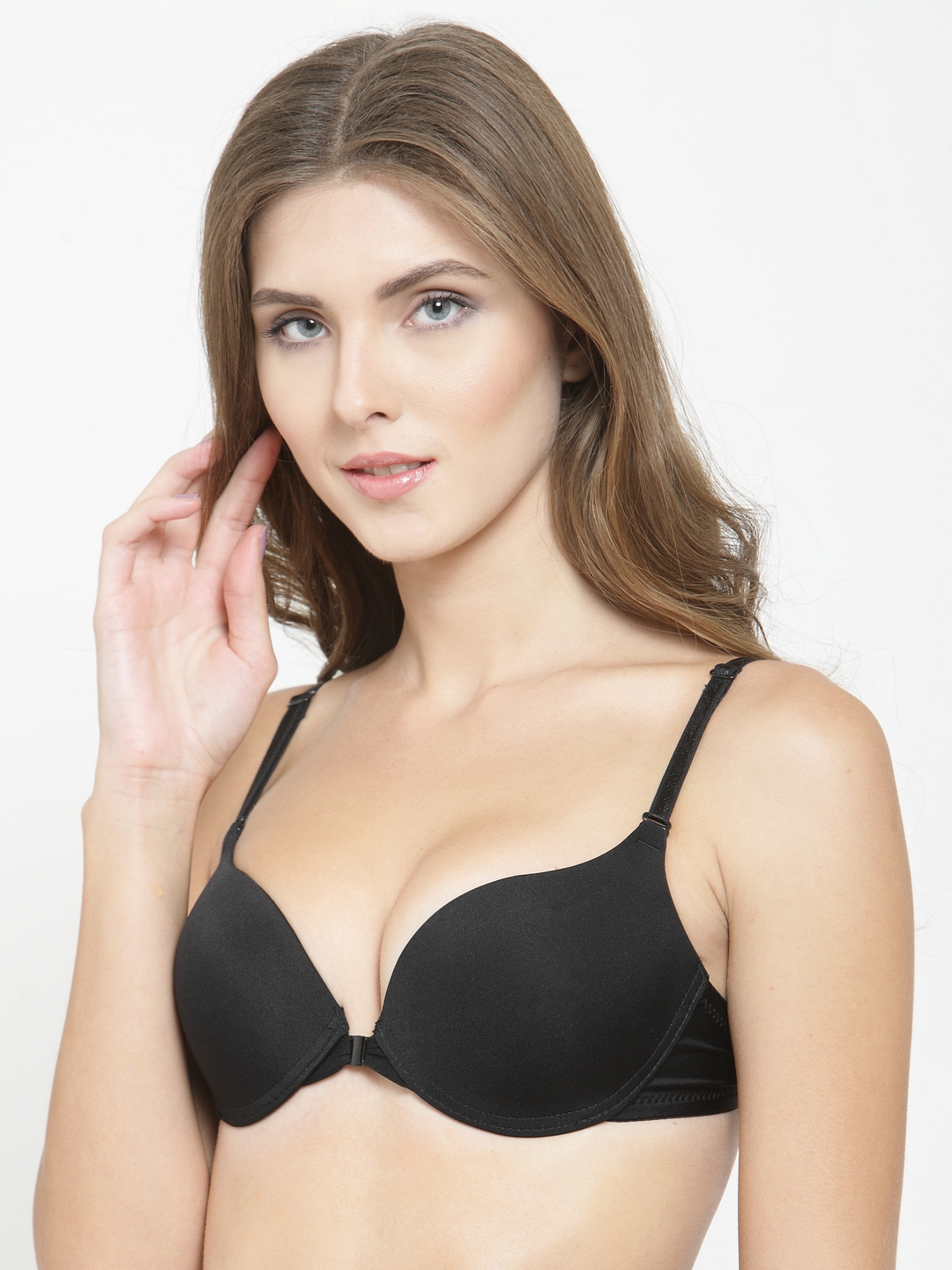 483436cfa394a PrettyCat Black Solid Underwired Lightly Padded Push-Up Bra PC-BR-20304636B