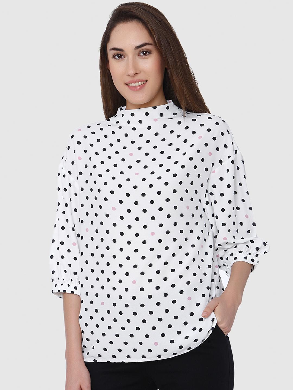 Vero Moda Women White Printed Top