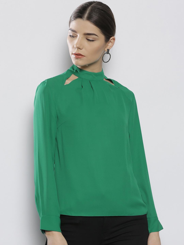 huge range of online better price for DOROTHY PERKINS Women Petite Green Solid Top