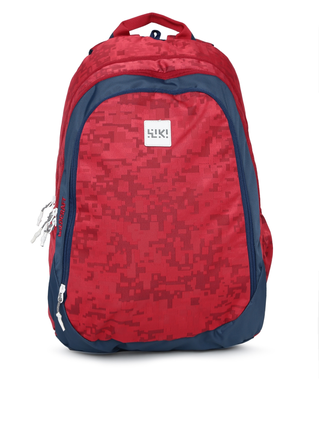 Wildcraft Unisex Red Graphic WIKI 7 Jacquard Backpack