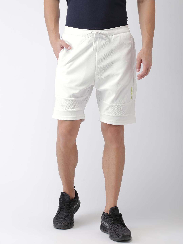 f50153ad14 Buy Kappa Men White Solid Regular Fit Sports Shorts - Shorts for Men ...