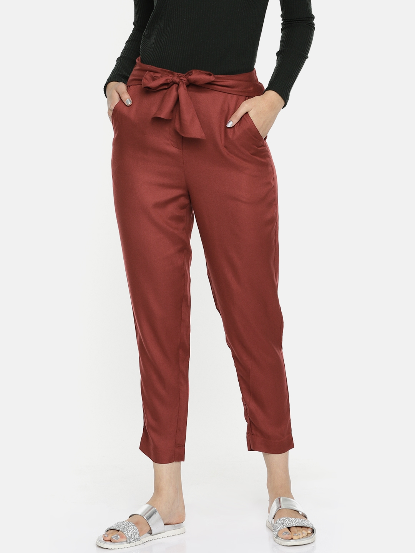 Buy Code By Lifestyle Women Brown Regular Fit Solid Regular Trousers Trousers For Women 8441717 Myntra Relevancy best selling increasing decreasing. code by lifestyle women brown regular fit solid regular trousers
