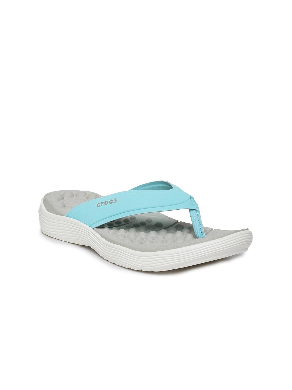 09458cde2df4 Buy Crocs Women Blue Reviva Thong Flip Flops - Flip Flops for Women ...