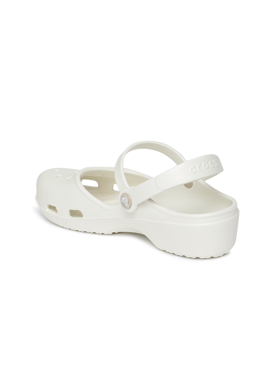 Buy Crocs Women White Solid Clogs - Flip Flops for Women 8452311 ... 7c7680ab4e