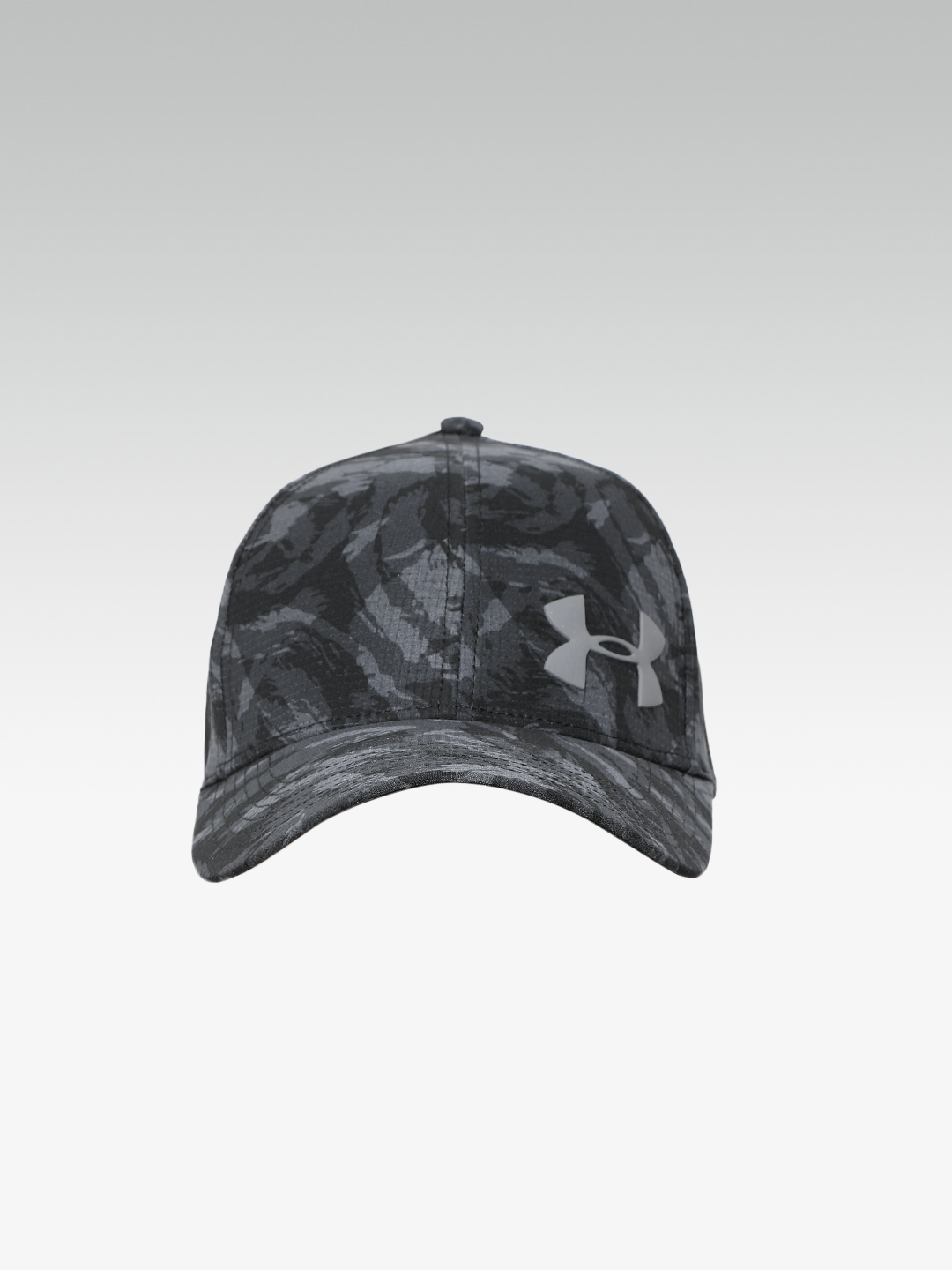 UNDER ARMOUR Men Black   Grey Camouflage Printed Launch ArmourVent Cap 45ce880837c7