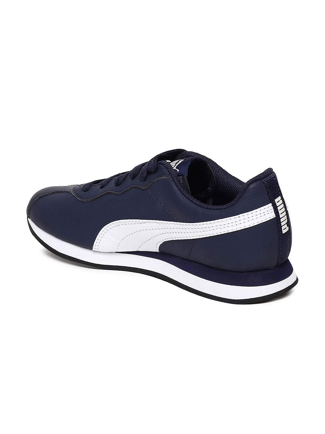 6d8139ad92b Buy Puma Kids Navy Blue Turin II Jr Leather Sneakers - Casual Shoes ...