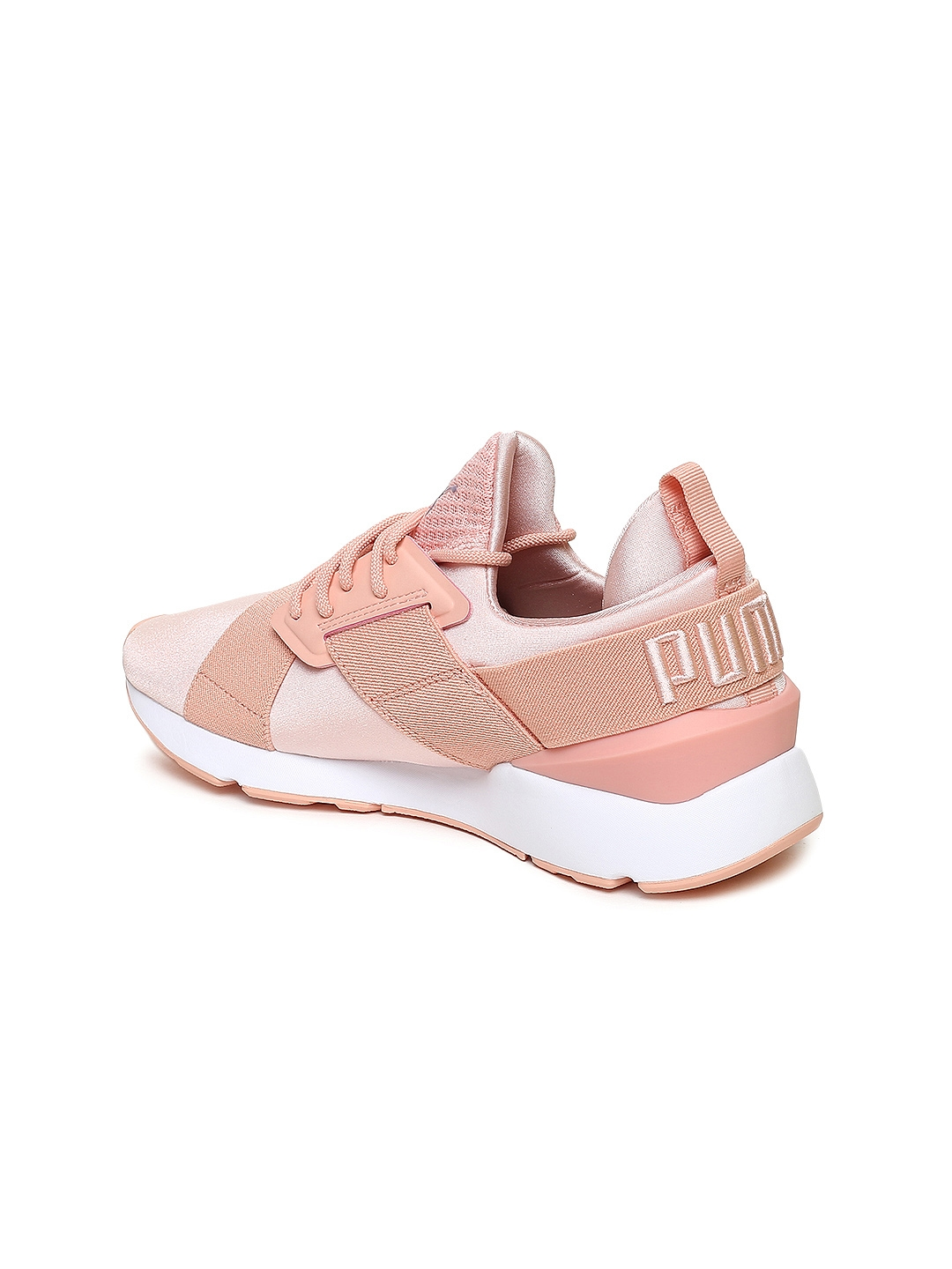 27c84391db Buy Puma Women Peach Coloured Muse Satin Sneakers - Casual Shoes for ...
