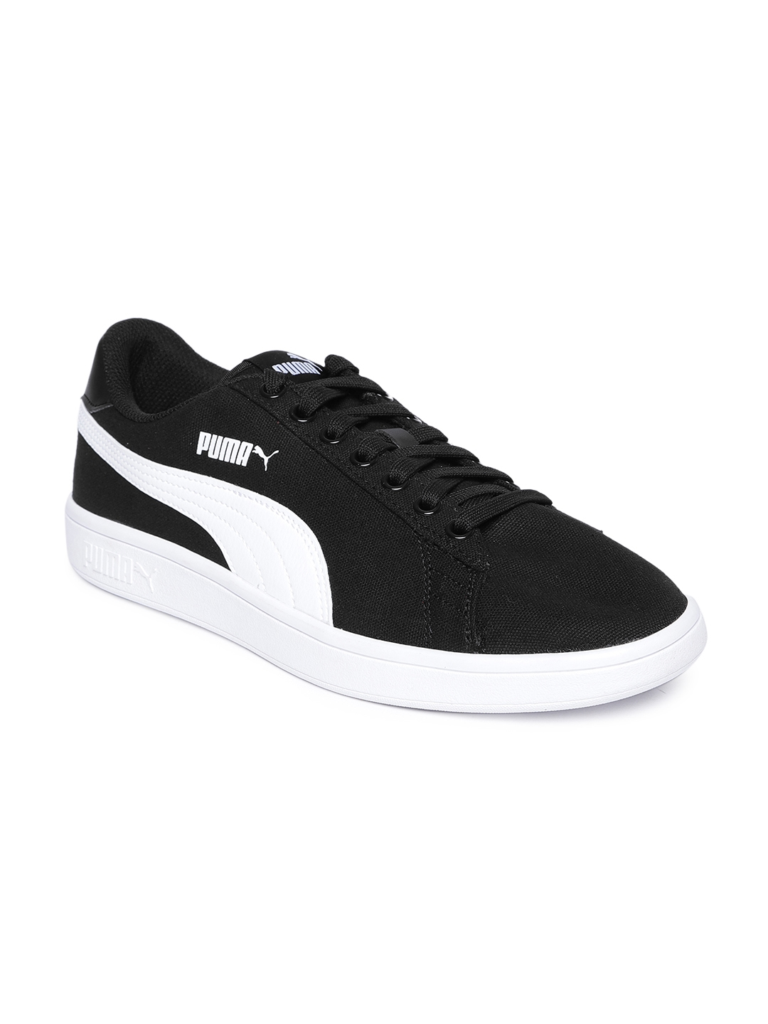 1a644125402a Buy Puma Unisex Black Smash V2 CV Sneakers - Casual Shoes for Unisex ...