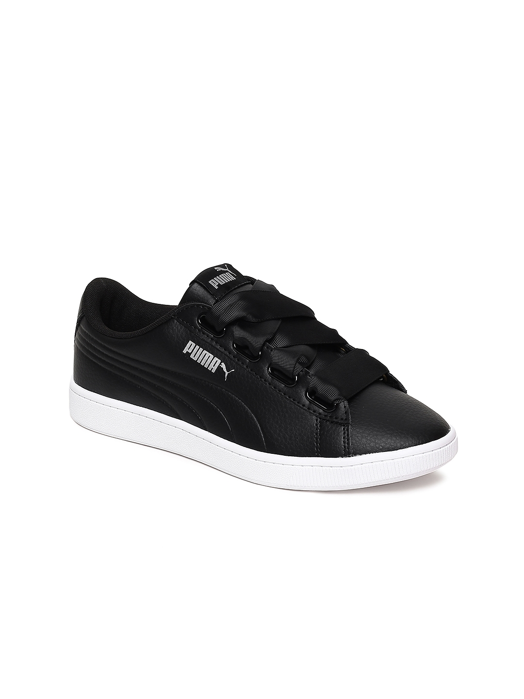 Buy Puma Women Black Vikky V2 Ribbon Core Sneakers - Casual Shoes ... eea8e159b6
