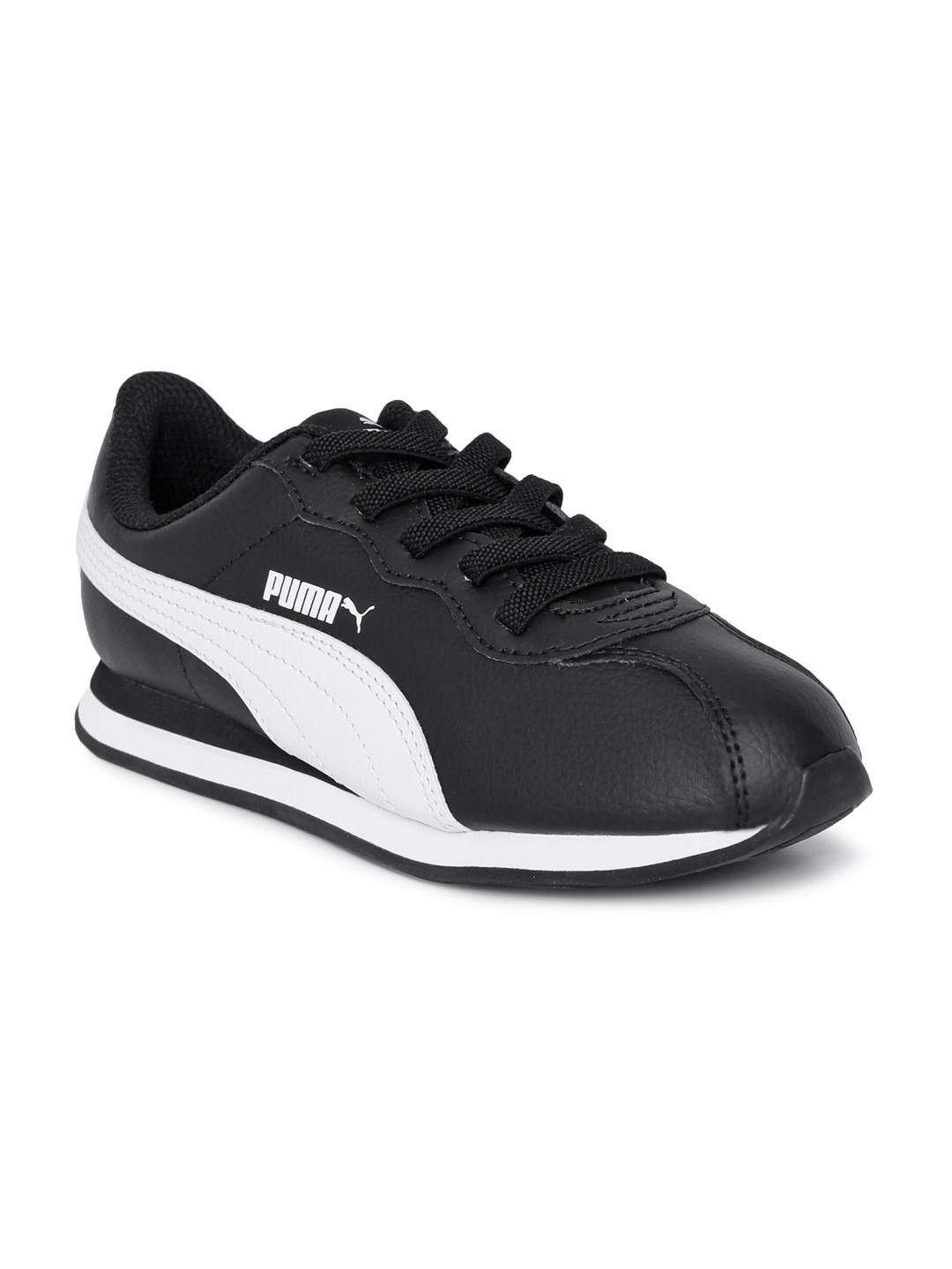 179857689a7 Buy Puma Kids Black Leather Turin II AC PS Sneakers - Casual Shoes ...