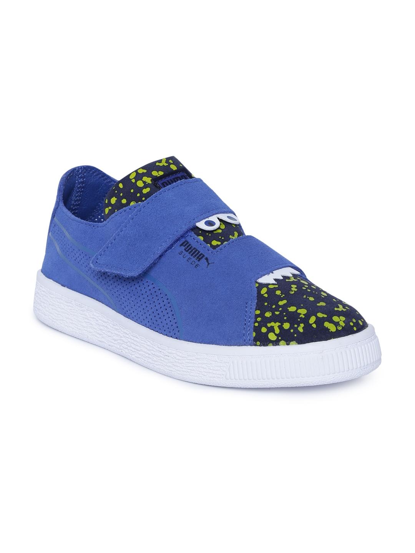 PUMA unisex-Child Suede Deconstruct Velcro Kids Sneaker